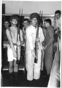 Rekrutter med gevær